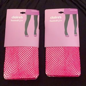 Pink fishnet tights two packs size medium/large